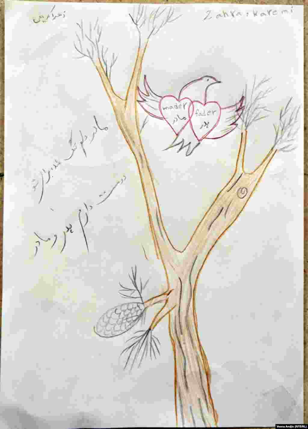 By Zahra, 8, from Iran