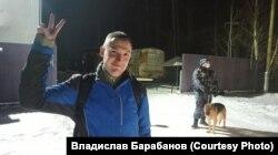 Константин Котов после освобождения из ИК-2 в Покрове, 16 декабря 2020 года
