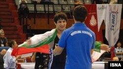 سعيد عبد ولی مدال طلا گرفت. (عکس: ایسنا)