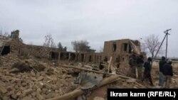 خسارتهای برجامانده از انفجار هاموی بمبگذاری شده در ولسوالی دولتآباد فاریاب