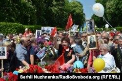Ось так у травні 2016-го акція проросійського ідеологічного спрямування «Безсмертний полк» проходила у Києві