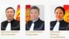Карыбек Дүйшеев, Эмил Өскөнбаев жана Мээргүл Бобукеева.
