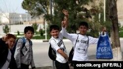 Узбекские школьники.