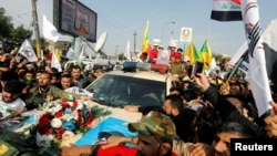 Церемония прощания с иранским генералом Касемом Сулеймани, Багдад. 4 января 2020