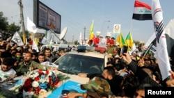 Bağdad, Qassem Soleimani tərəfdarları vida mərasimi keçirirlər, 4 yanvar 2020