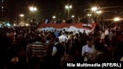 Демонстранты на каирской площади Тахрир