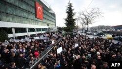 """Истанбулдаги """"Замон"""" газетаси бош идораси, 2014 йилнинг 14 декабри."""