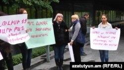 Акция протеста жителей Сари Таха, Ереван, 31 октября 2016 г.