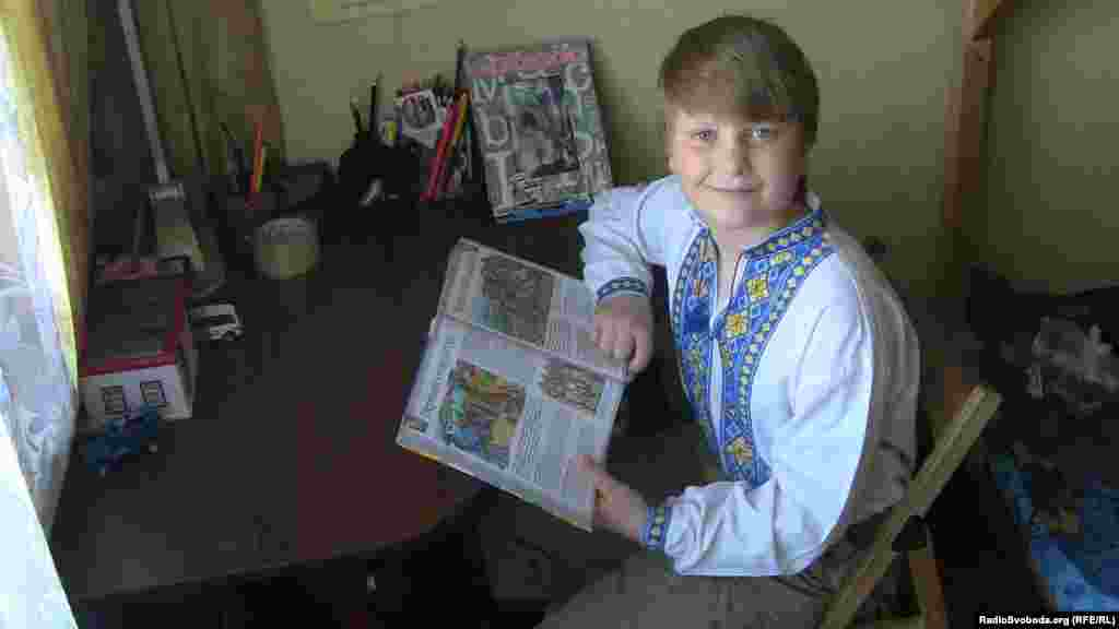 Bogdan Solonyna, 9, lives in Kyiv, Ukraine. He wants to be a straight-A student in school. When he grows up, he wants to be the chef at his own restaurant, so he has started learning by helping his mother cook.
