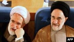 محمد خاتمی رئیس جمهوری سابق ایران و مهدی کروبی؛ دو نامزد اصلی اصلاحطلبان برای انتخابات خرداد ۸۸