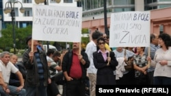 Sa protesta invalida u Podgorici, 1. avgust 2010