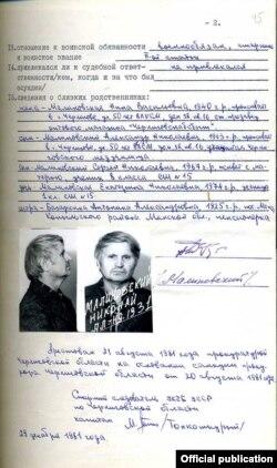 Справа антысаветчыка Мікалая Маліноўскага, нараджэнца Капыльшчыны