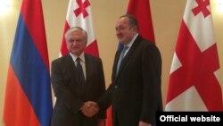 Встреча министра иностранных дел Армении Эдварда Налбандяна с президентом Грузии Георгием Маргвелашвили, Тбилиси, 1 августа 2016 г.