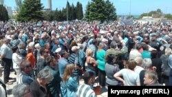 Митинг в Севастополе против проекта генплана города 27 мая 2017 года