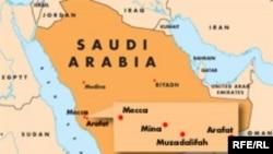 Сауд Арабиясының картасы. (Көрнекі сурет)