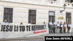 Prosvjed NGO udruga pred Vladom