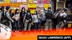 Hong Kong: protest împotriva noii legi a securității, adoptată de China - protestele sunt interzise din cauza epidemiei de coronavirus, 29 iunie 2020.