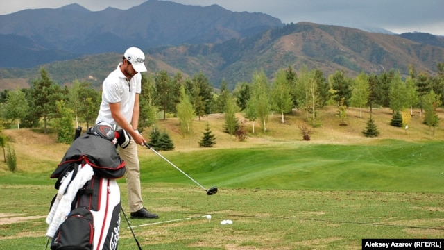 The Zhailyau golf resort outside Almaty, Kazakhstan's business capital and main city, sports spectacular views.