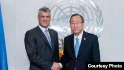Kryeministri i Kosovës, Hashim Thaçi, është takuar në Nju Jork me Sekretarin e Përgjithshëm të OKB-së, Ban Ki Mun, 22 shtator 2013