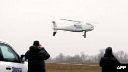 Тестовый полет беспилотника ОБСЕ, окрестности Мариуполя, 23 октября 2014 года.