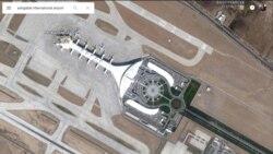 Aşgabadyň täze aeroporty çöküp başlady