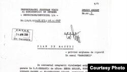 Plan de măsuri din 22 octombrie 1988 (extras dintr-un document al Securităţii)