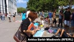 Zagreb,prodaja polovnih udžbenika, avgust 2011, ilustrativna fotografija