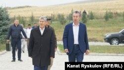 Алмазбек Атамбаев и Фарид Ниязов. Кой-Таш, 2019 год.