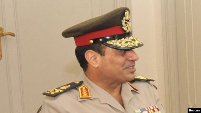 The head of the Egyptian armed forces General Abdel Fattah al-Sisi