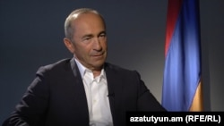 Armenia -- Former president Robert Kocharian gives an interview to RFE/RL, Yerevan, 5Sep2015