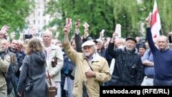 Падчас Беларускага нацыянальнага кангрэсу ў Менску, 15 траўня 2016 году