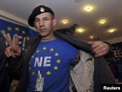 Противник Евросоюза на референдуме в Хорватии в 2012 году