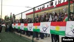 Demostrație impotriva referendumului pentru independență a regiunii kurde din Irak, Sulaimaniyah, 9 septembrie, 2017