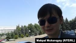 Фархат Юсупжанов, руководитель молодежной организации инвалидов «Жигер». Алматы, 10 июля 2014 года.