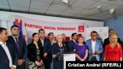 Romania - PSD Press conference after Liviu Dragnea was convincted