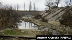 Білогірське водосховище, грудень 2017 року