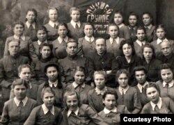 Выпускная 9-я група, пераможца сацыялістычнага спаборніцтва. Барысаглебск