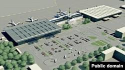 Макет аэропорта в Харькове.