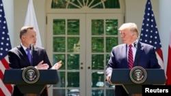 Пресс-конференция президентов Польши и США. Вашингтон, 24 июня 2020 года