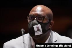 Philonise Floyd gjatë dëshmisë së tij në Dhomën e Përfaqësuesve. Uashington D.C, 10 qershor, 2020.