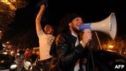 """Сторонники оппозиции празднуют победу партии """"Грузинская мечта"""" в центре Тбилиси"""
