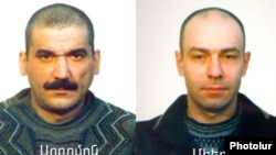 Armenia -- Soghomon Kocharian (L) and Mher Yenokian, the two convicts who escaped from Yerevan's Nubarashen prison on November 27, 2009.