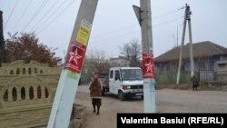 Гагаузия аймағындағы Гонгаз елдімекені. Молдова, 11 қараша 2014 жыл.