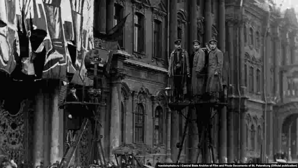Празднование Первомая на Дворцовой площади, 1 мая 1918