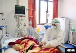 Иран, пациент с COVID-19 в больнице