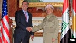 رئيس الاقليم مسعود بارزاني يستقبل وزير الدفاع الاميركي اشتون كارتر