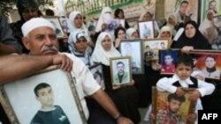 اسراییل تنها زندانیان وابسته به گروه فتح را آزاد کرده است. تصویری از خانواده زندانیان حماس در نوار غزه