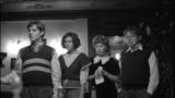 A scene from the film Holiday (Prazdnik) (Yan Tsapnik, Elena Babenko, Anfisa Chernykh, and Pavel Tabakov (left to right)