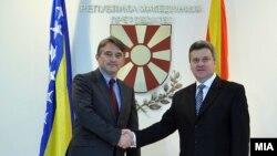 Претседателот Иванов и претседавачот на босанското Претседателство, Жељко Комшиќ.
