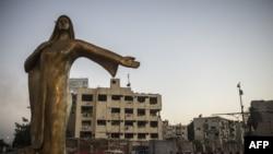Египет астанасындағы ескерткіш. Каир, 20 тамыз 2015 жыл.